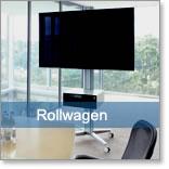 mobile tv rollwagen f r pr sentationen in konferenz oder. Black Bedroom Furniture Sets. Home Design Ideas