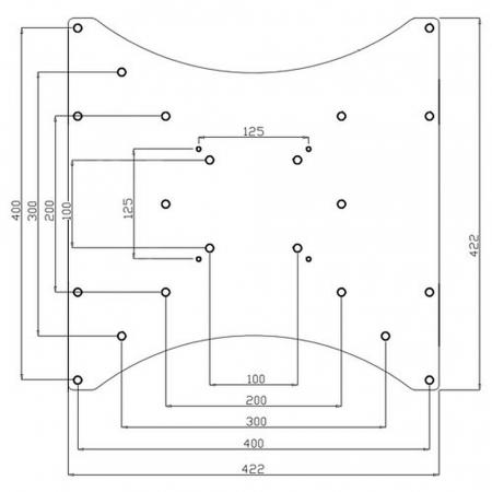 Adapterplatte AP200-400 zur Erweiterung auf max. VESA 400x400 mm