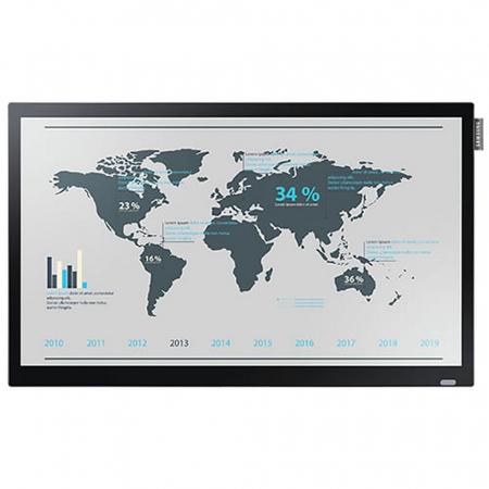 Schaufenster Videowall mit 4x47 Zoll mit 5,6 mm Steg