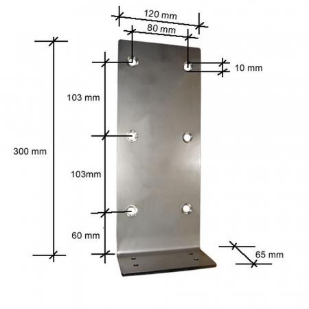 Wandmontageplatte für Einbauhublift 3026-27 Version A