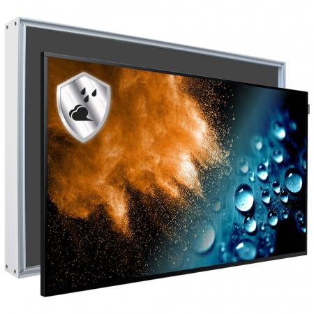 Monitor mit Schutzgehäuse Staub- und Wasserschutz SLIM