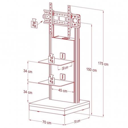 Design LCD LED Standfuß MM-17027 für 32 - 70 Zoll Monitore