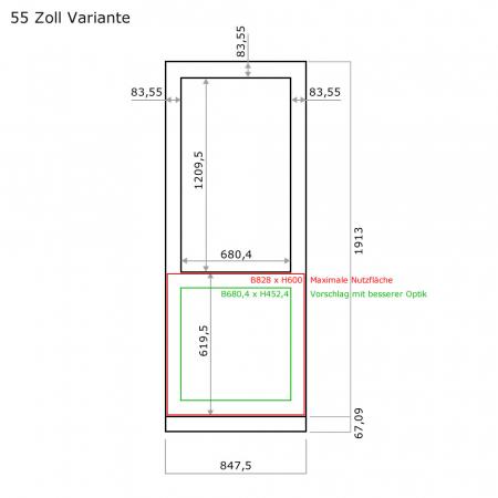 Firmenlogo Folienaufkleber für MMLS Stelen
