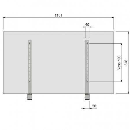 Display LED L Tischstandfuß für 32 - 52 Zoll