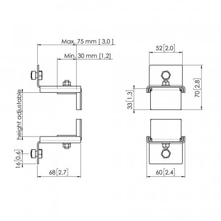 MM-PFA9127 Halteklammer für Mini-PCs