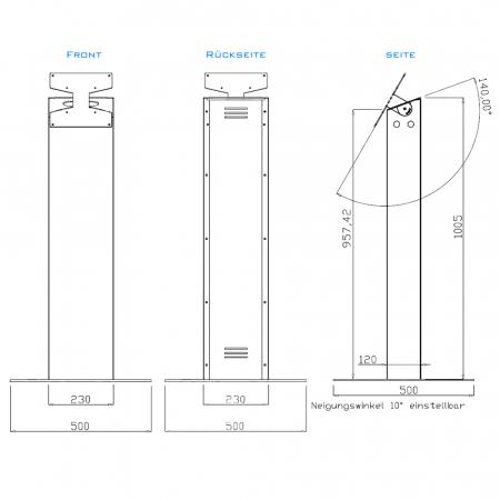 LCD LED TV Pult Standfuß MS200 für Displays bis 43 Zoll