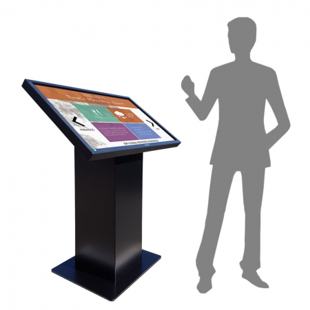 Kiosksystem Pult Version mit Touch Display 43 - 65 Zoll