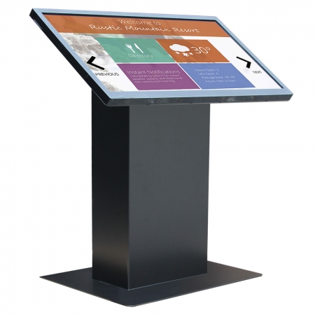 Kiosksystem Pult Version mit Multitouch Display Mietgerät