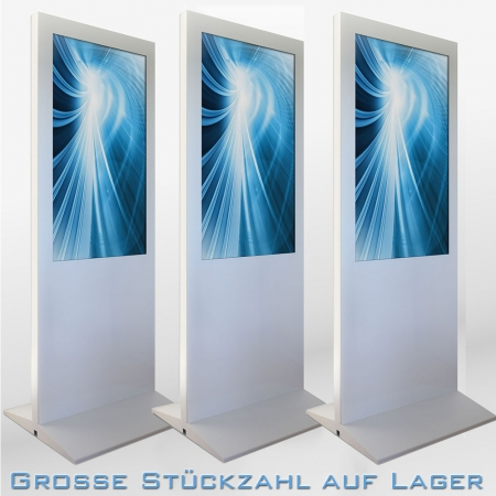 Digital Poster Werbestele MMLS48DB 48 Zoll Leihgerät Weiß