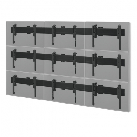MM-PFB-9x55Wall Videowall Wandhalterung für 3x3 55 Zoll Monitore