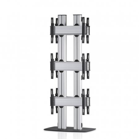 3x1-E Rücken-an-Rücken Videowall Standfuß 42-55 Zoll