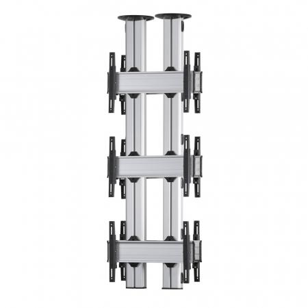 3x1-E Rücken-an-Rücken TV-Deckenhalter 42-55 Zoll