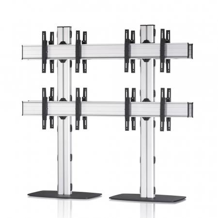 2x2 Rücken-an-Rücken Videowall-Standfuß 42-55 Zoll