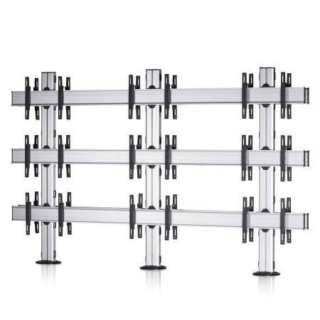 3x3 Rücken-an-Rücken Videowall-Standfuß 42-55 Zoll