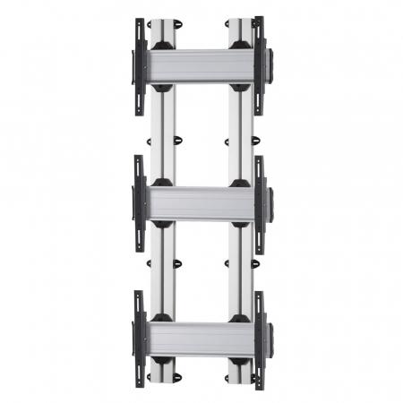 3x1 Videowall Wandhalter für Monitore von 42-55 Zoll