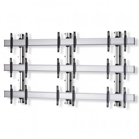 3x3 Videowall Wandhalter für Monitore von 42-55 Zoll