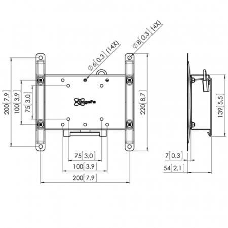 MM-PFW 4210 Wandhalter mit Diebstahlschutz für 19-42 Zoll
