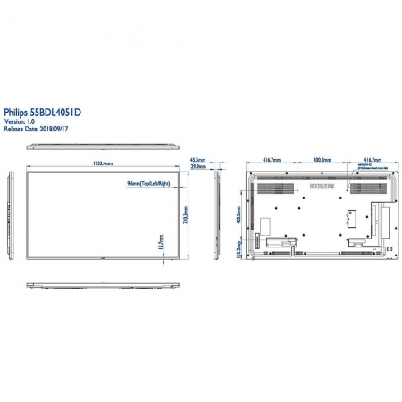 Philips 55BDL4051D/00 Public Info Display 55 Zoll (138,80 cm)
