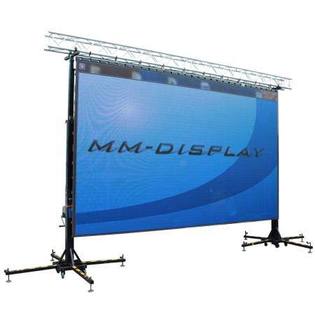 LED Outdoor Videowall zum Mieten und Leihen 5 x 3m