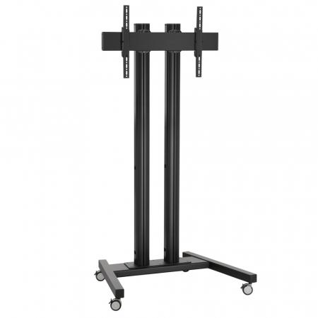 Monitor Rollwagen Schwarz für Displays ab 55 Zoll, max. 150 kg