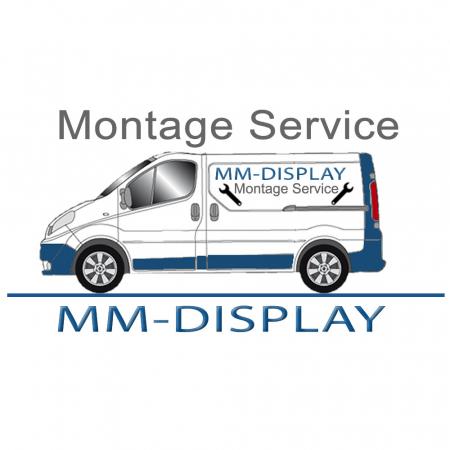 Monitor Rollwagen Silber für Displays ab 55 Zoll, max. 150 kg