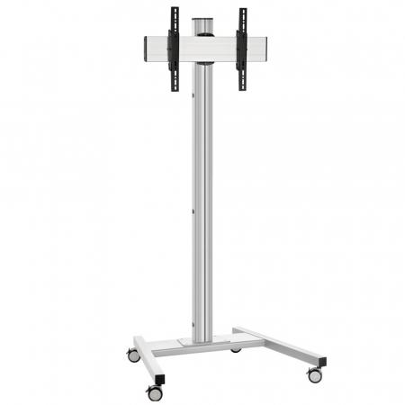 Monitor Rollwagen Silber für Displays bis 65 Zoll