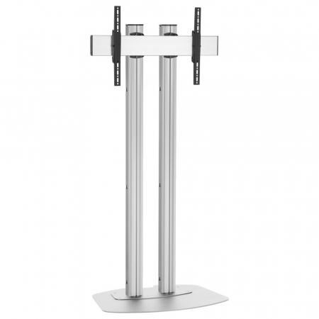 Monitor Standfuß Silber für Displays ab 65 Zoll, max. 80 kg