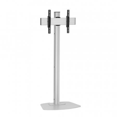 Monitor Standfuß Silber für Displays bis 65 Zoll