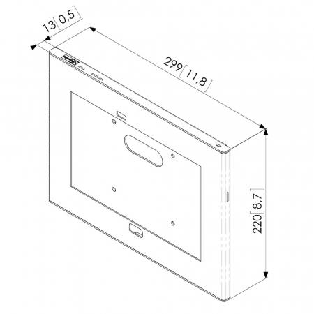 Schutzgehäuse Galaxy Tab 3 und 4 mit zugänglicher Home-Taste