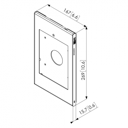 Schutzgehäuse iPad mini 4 Home-Taste verborgen