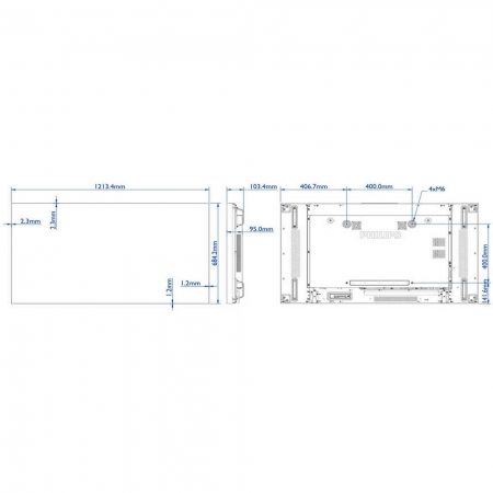 Philips Smart Signage BDL5588XH LED Display