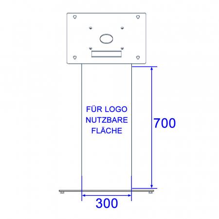 Firmenlogo Folienaufkleber für DWS und MS-Serie