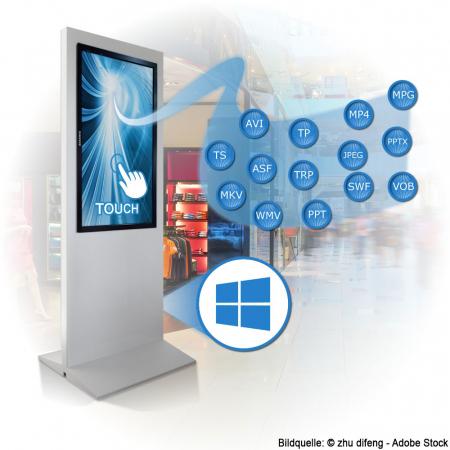 Digital Werbestele MMLS49PMH 49 Zoll mit Touch Leihgerät