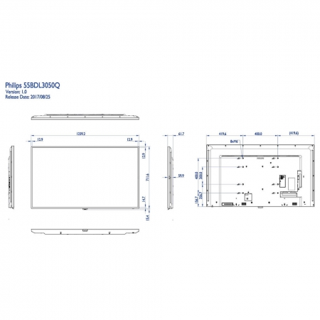 Philips 55BDL3050Q/00 4K UHD Display 55 Zoll (138,7 cm)