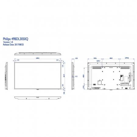 Philips 49BDL3050Q/00 4K UHD Display 49 Zoll (123,2 cm)