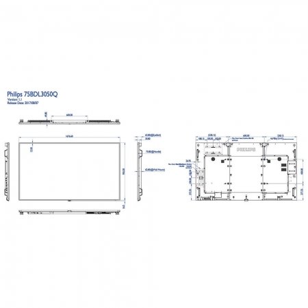 Philips 75BDL3050Q/00 4K UHD Display 75 Zoll (190,5 cm)