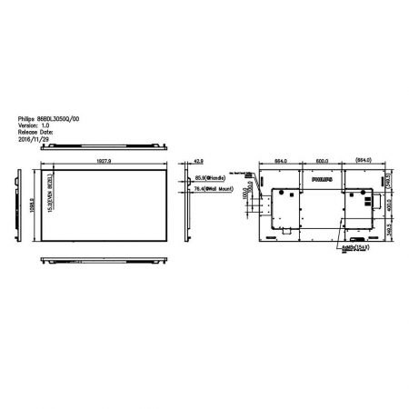 Philips 86BDL3050Q/00 4K UHD Display 86 Zoll (217,4 cm)