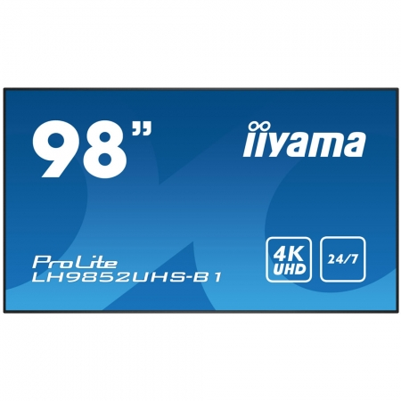 iiyama ProLite LH9852UHS-B1 UHD Digital Signage Display 98 Zoll