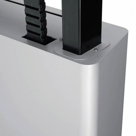 MM-TE1164 Elektrisch höhenverstellbarer Displaywagen 42-85 Zoll
