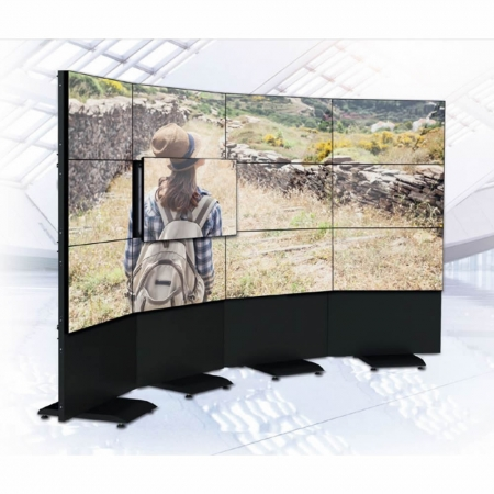 Modularer Curved Pop Out Videowall Standfuß MM8353
