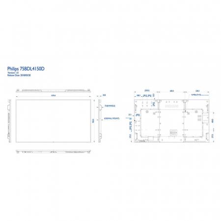 Philips 75BDL4150D/00 Public Info Display 65 Zoll (189,30 cm)