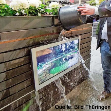 Outdoor LED TV Monitor mit Wetterschutz 43 Zoll