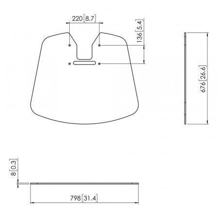 PFF 7025 Bodenplatte Extragroß