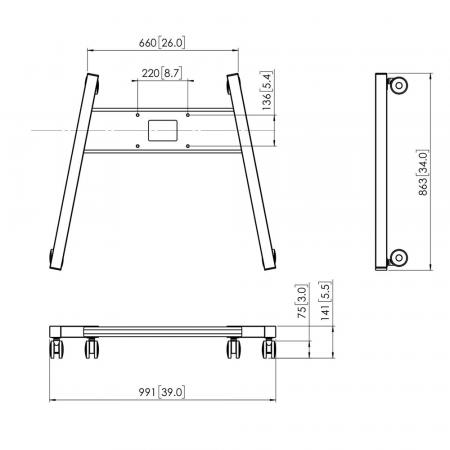 PFT 8525 Rollwagen-Rahmen für PFFE 7131