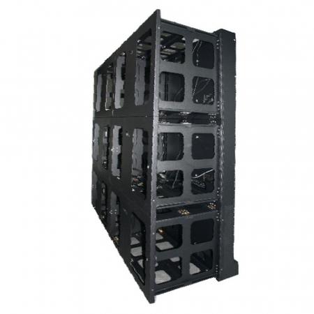 Transportables Klappbox Set für 2x2 55 Zoll Videowall Displays