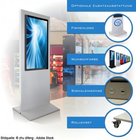 Digital Poster Werbestele MMLS43T 43 Zoll mit Touchfunktion
