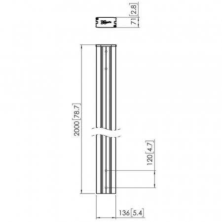 MM-PUC2920 Profil-Rohr 200 cm Länge
