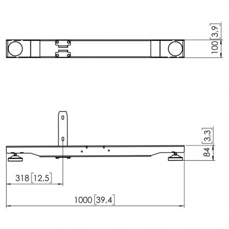 MM-PFF7920 Videowall Standfuß