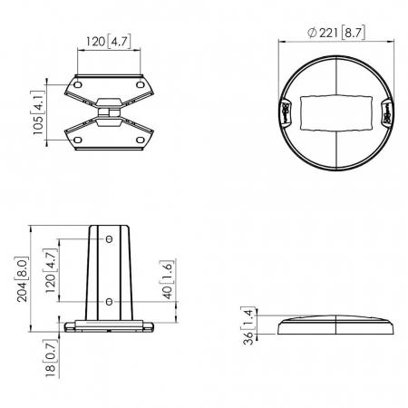 MM-PFF7960 Bodenmontageplatte