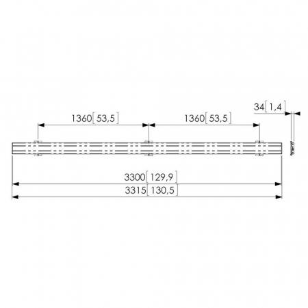 MM-PFB3433 Adapterleiste für Monitorhalterung 330 cm